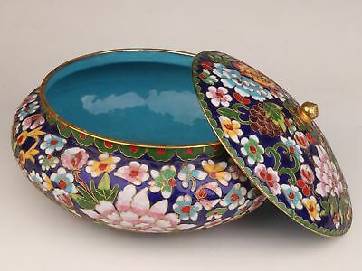 Antique Chinese Enamel Cloisonne Jars Are Large Old Handmade Only One Collection