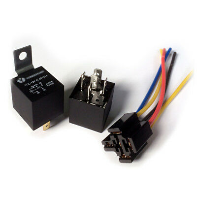1pcs DC 12V Car SPDT Automotive Relay 5 Pin 5 Wires w/Harness 30/40 Amp JD1914 #