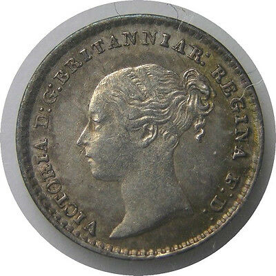 elf  Great Britain 1 Penny 1872 Silver  Victoria   Maundy