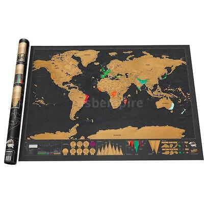 Scratch Off Journal Log World Map Personalized Travel Edition Atlas Poster Gift