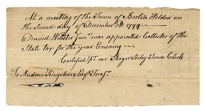 Early American Colonial Handwritten Document * Berlin CT * December 4th, 1799