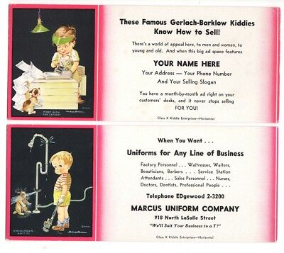 INK BLOTTER Uniform Gerlach Barklow Children Art Work Andrew Bensen Vintage