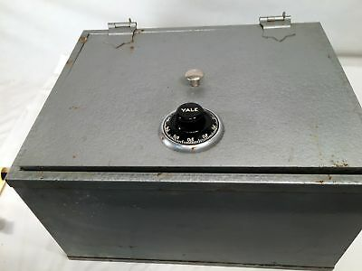 """Old Yale Combination Safe  With Handles 16 x 13 x 9"""" Weights 48Lbs"""