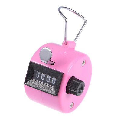 Hand Tally Counter 4 Digit Tally Counter Mechanical Palm Click Counter Pink