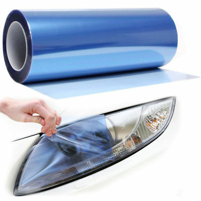 "Sky Blue Vinyl Film Tint 12"" x 39"" Headlight Taillight Fog Wrap Cover"