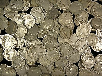 Roll (40 coins) No Date Indian Head Buffalo Nickels (NDBNt)