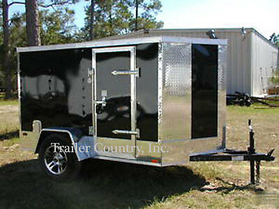 NEW 5x8 5 x 8 Motorcycle Enclosed Cargo Trailer w/ Ramp - NEW 2019