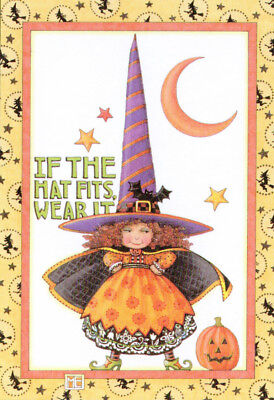 IF HAT FITS WITCH-Handcrafted Halloween Fridge Magnet-w/Mary Engelbreit art