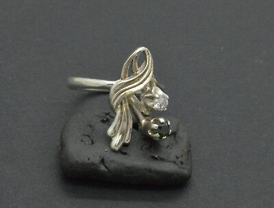 Antiquarian Silver Ring with gemstones. 20 Century