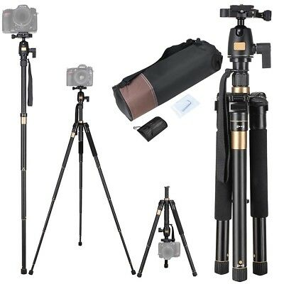 "60"" Professional Aluminium Tripod Monopod w/ Ball Head Travel for DSLR Camera"