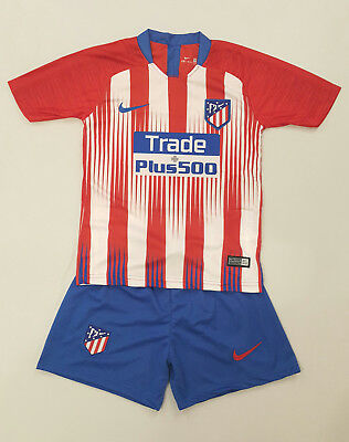 Atletico Madrid Heim Trikot Kinder Set 2018/19, Nr.7, Neu