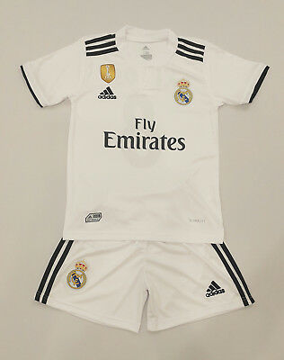 Real Madrid Heim Trikot Kinder Set 2018/19, Nr.8, Neu