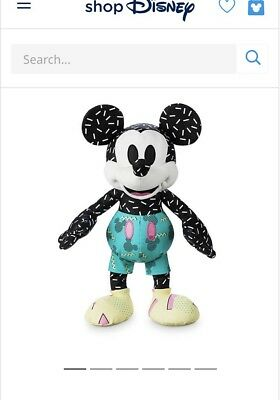 NWT Mickey Mouse Memories September month Plush Disney Store Limited edition