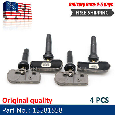 (4) 13586335 13581558 Gm Tpms Car Tire Pressure Monitoring Sensor