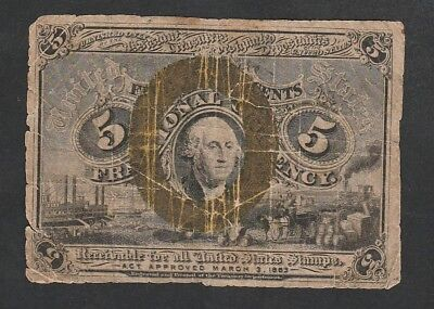 5 Cents Fractionnal Currency 1863