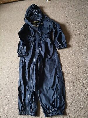 Trespass Navy Blue Waterproof, Breathable, Windproof All-In-One -Age 5-6 - Vgc!