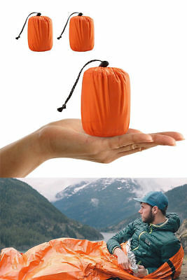 1Pc Reusable Emergency Sleeping Bag Thermal Waterproof Survival Camping Travel*
