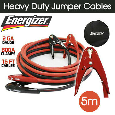 Energizer 5m 800A Heavy Duty Jumper Cables Surge Protected Jump Car Booster New