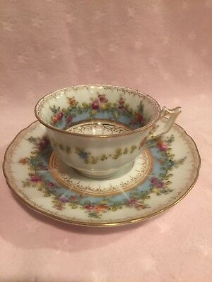 "Antique ""Saxe"" demitasse cup and saucer. Excellent antique condition. Germany"