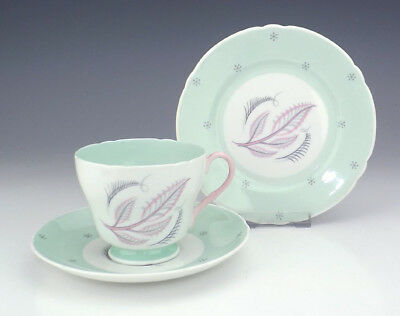 Shelley China - Rhythm Pattern Cup Saucer & Tea Plate - Art Deco!