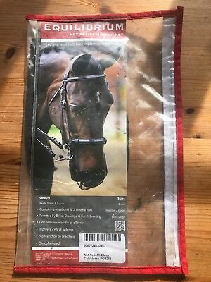 Equilibrium Nose Net Relief Only One In Bag Cob/Horse Black BD Legal