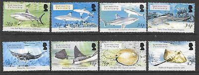British Indian Ocean Terr Sg336/43 2005 Sharks & Rays Mnh