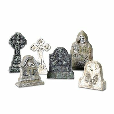 Department 56 Accessories for Villages Halloween Tombstones Accessory Figurine 6