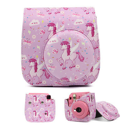 For Fujifilm Instax Mini 8 9 Fuji Instant Camera Carry Bag Case Cover Pink Horse
