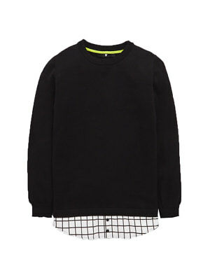 V by Very Mock Hem Shirt Knitted Jumper in Black Size 15-16 Years