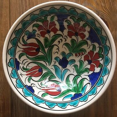 Turkish Ceramic Kutahya Tile Bowl Porcelain Ottoman 16 cm Handmade Unique M17