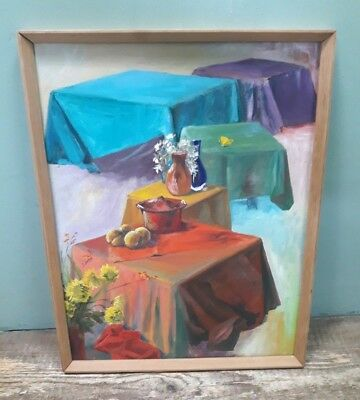 Keith Retallick 'Yellow Butterfly' original acrylic painting in wooden frame B20