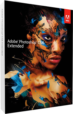 Adobe Photoshop CS6 Extended Creative Suite Deutsch WIN Vollversion Datenträger
