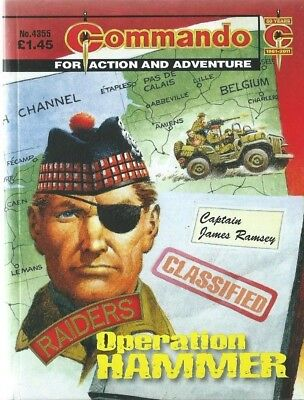 Operation Hammer,commando For Action And Adventure,no.4355,war Comic,2011