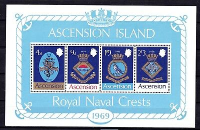 ASCENSION #129a MNH COATS OF ARMS OF ROYAL NAVAL SHIPS