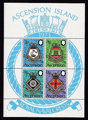 ASCENSION #166-169a MNH COATS OF ARMS OF ROYAL NAVAL SHIPS
