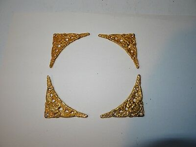 Set of 4 antique clock brass spandrels for longcase/grandfather clocks
