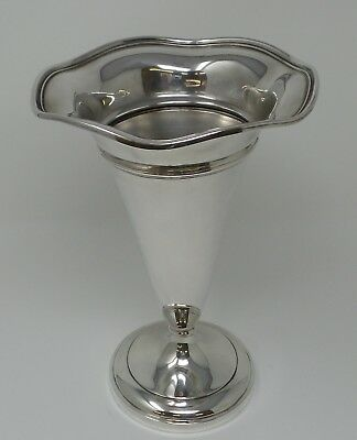 """Vintage Sterling Silver J.E. Caldwell Trumpet Vase 9"""" Tall Excellent Condition!"""