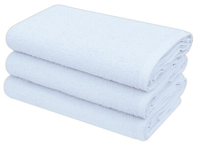 White Terry Toweling Premium Quality Cotton Nappies 60 x 60 cm 12 Per Pack
