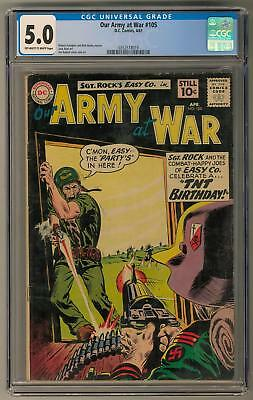 Our Army at War #105 CGC 5.0 (OW-W) Joe Kubert Cover & Art