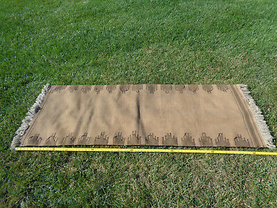 "*~Estate Attic Find~*  Antique Primitive Rug Runner  79"" X 30""  Native American?"