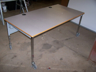 """used"" 5'  Laminate  Top/metal Legs   Utility Table - Pick Up Only! Hp5't4"
