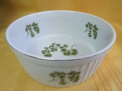 Andrea by Sadek~Oven to Table Cookware~Parsley~Large Ribbed Souffle 7532-Free Sh