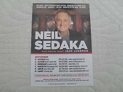 NEIL SEDAKA - Lovely colour tour flyer (Mint)
