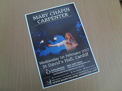 MARY CHAPIN CARPENTER - lovely colour UK tour flyer (Mint)