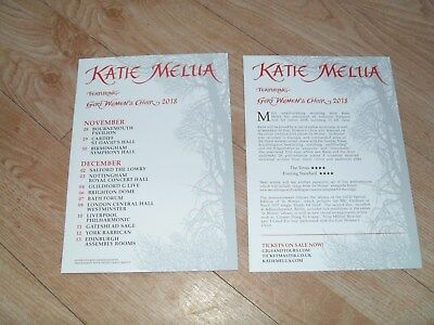 KATIE MELUA - Lovely colour tour flyer (Mint)