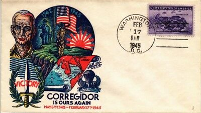 Dr Jim Stamps Us Cover Ww Ii Corregidor Victory Commemorative 1945 Staehle