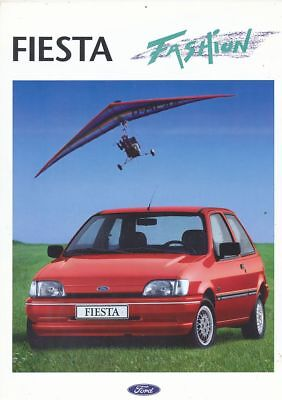 Catalogue Voiture Pub. Auto Ad.car Ford Fiesta Fashion 1993 En Francais