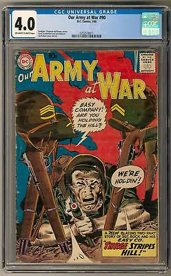 Our Army at War #90 CGC 4.0 (OW-W) Joe Kubert Cover and Art