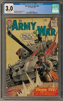 Our Army at War #86 CGC 3.0 (OW) Russ Heath Cover Art