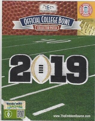 2019 Clemson CFP National Championship Playoff Game Patch White Football Logo